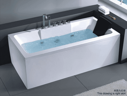 AD-668 New design double acrylic apron skirt indoor tub bath sizes for one person dutch hot tub