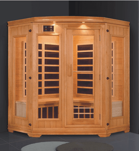 High quality Infrared sauna two person steam room home wood dry steam sauna far-infrared room