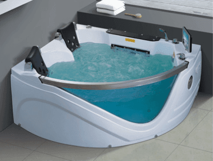 AD-610 triangle hot tub spa New Design Safety and durable whirlpool massage bathtub