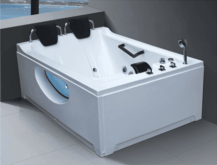 Best Price High Quality Acrylic Big Nozzles Massage Jakuzzy Bubble Bath Two Person Bathtub