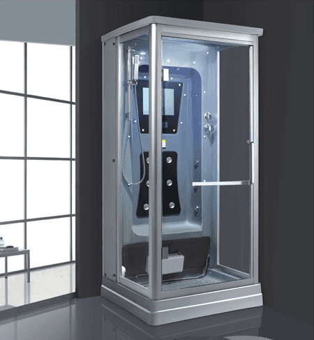 AD-902 square wet steam shower sauna room with massage for gym with computer control panel
