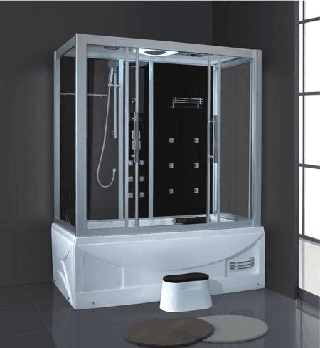 AD-909 Shower Cabins Price Rectangle Shower Bath Multifunctional Massage Steam Shower Room