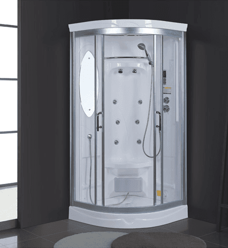 2018 new arrival Saudi Arabia market hot selling warm 900x900x2150mm steam shower cubicle price with seat