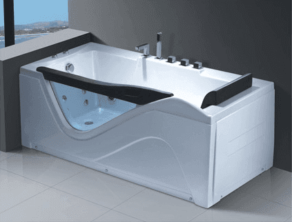 retail wholesale good quality glass bathtub with jakuzzy Massage Function acrylic bath tub foshan factory sale AD-640