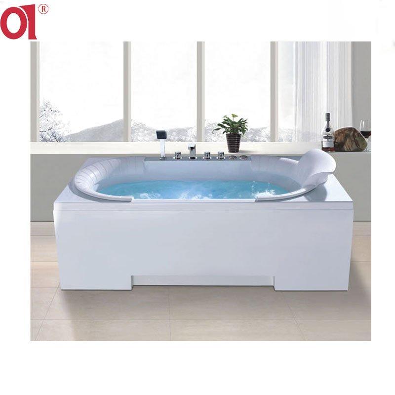 Whirlpool Massage Bathtub Hot Tub Left Skirt Acrylic Bathtub AD-3106