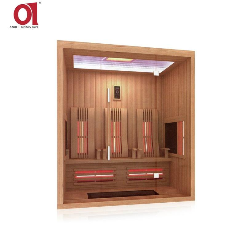 Customized Infrared Sauna Cabin Wood Finish Sauna Bath AD-832