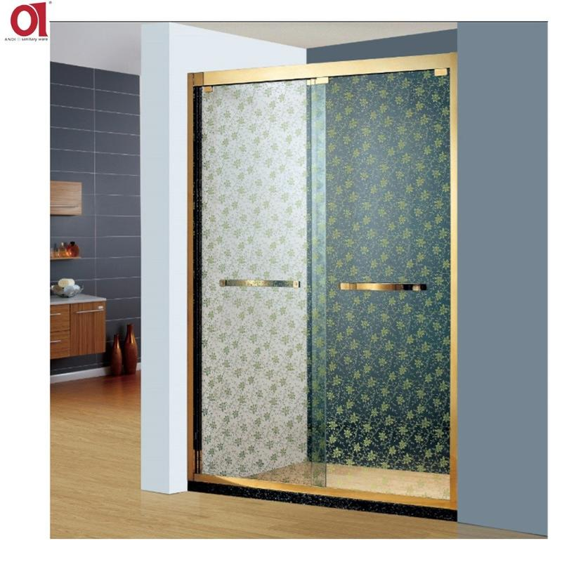 High Quality with Frame Tempered Sliding Shower Glass Door AD-2