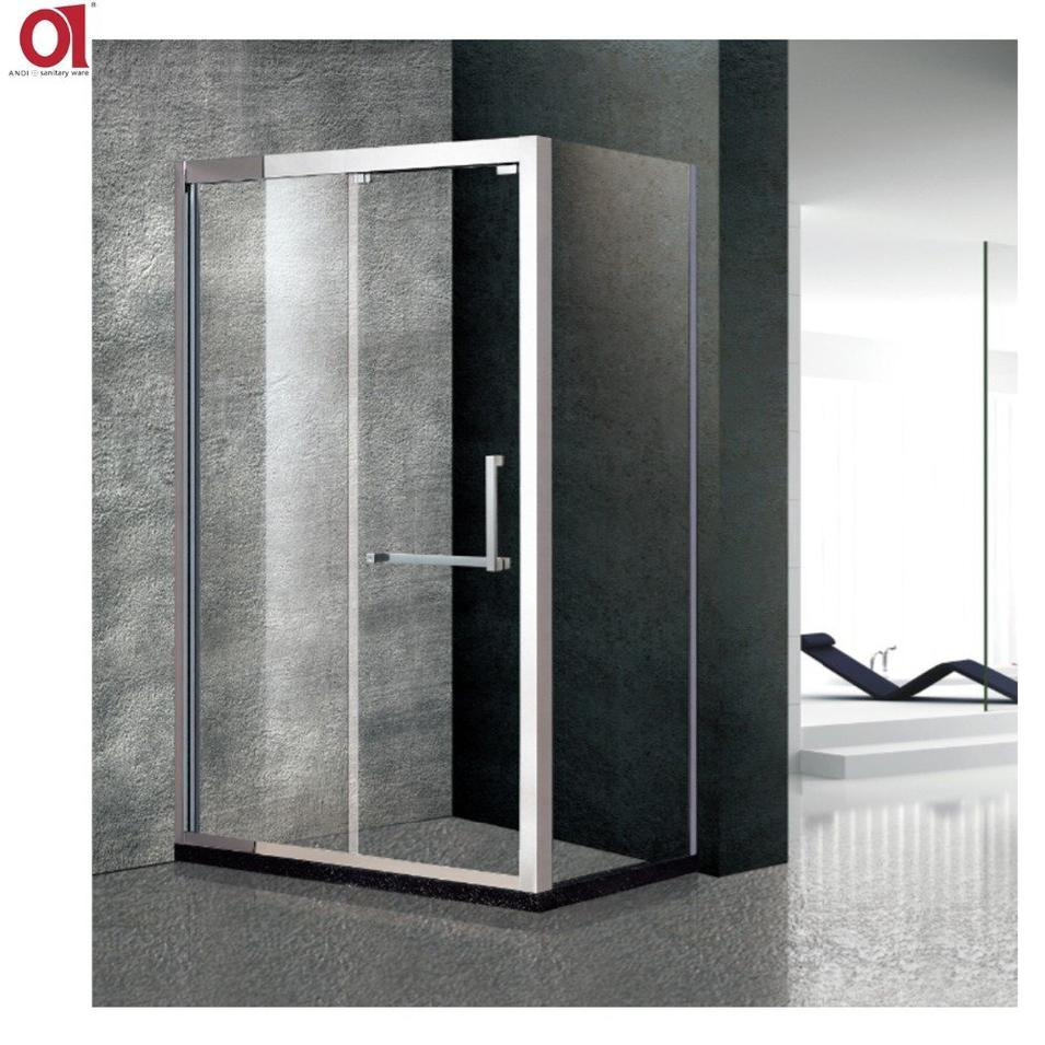 Customized Tempered Glass 8MM 10MM Stainless Steel Glass Shower AD-001