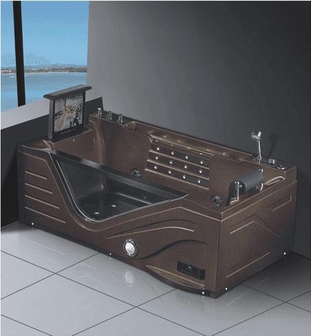 High Quality Whirlpool Baths Tub Luxury Air Bubble LED light with TV Two Sided Skirted Bathtub Massage Square Bathtub AD-616