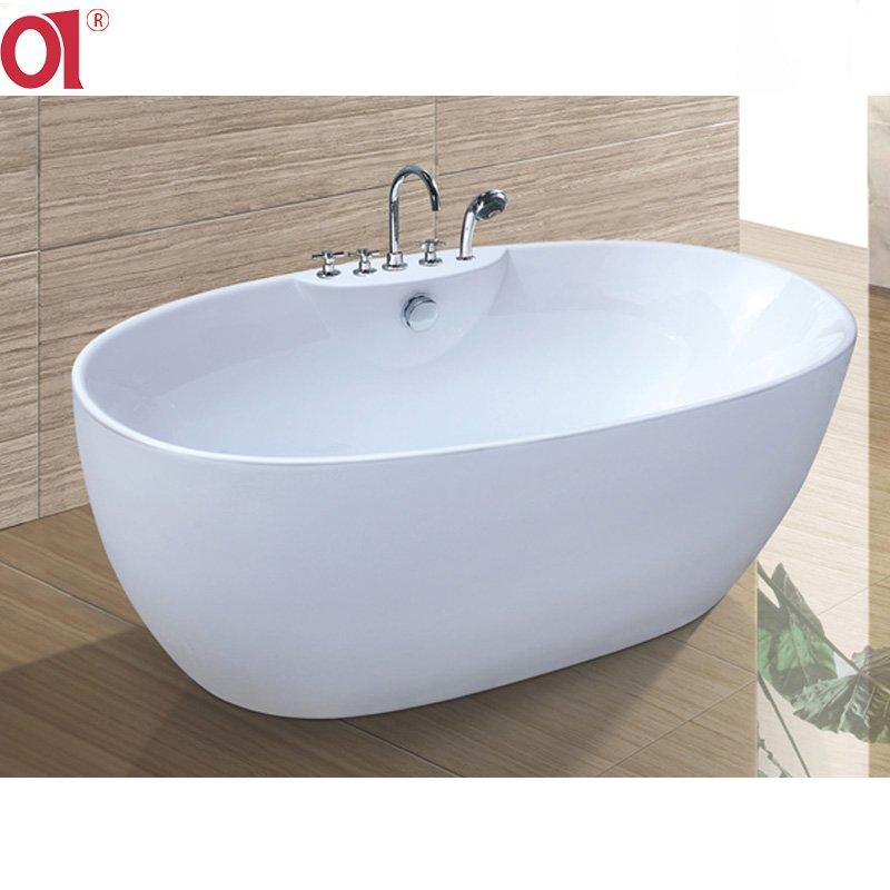 Cheap Price Oval Bathtubs for One Person China Factory Luxury freestanding Baths AD-6601B