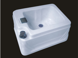 Factory Sale Ayclic freestanding Bath Basin Square Foot Barrels Spa AD-22