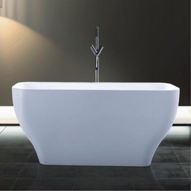 Modern Indoor 1 Person Fiberglass Hot Tubs Freestanding Seamless Soaking bathtub AD-6629