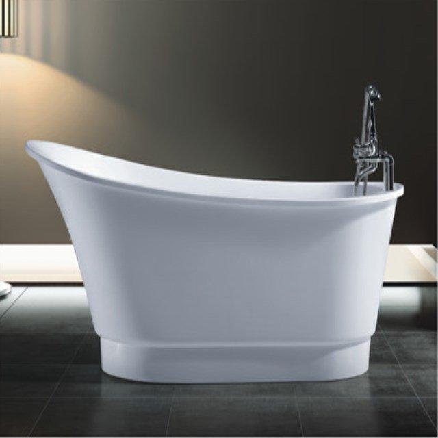 Wholesale Freestanding Portable Hot Tub White Acrylic Classical Bathtub with Tap AD-6634