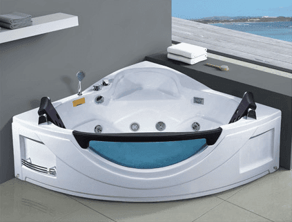 Made in China Acrylic Sector Sexy Indoor 2 Person Whirlpool Massage Tubs AD-631