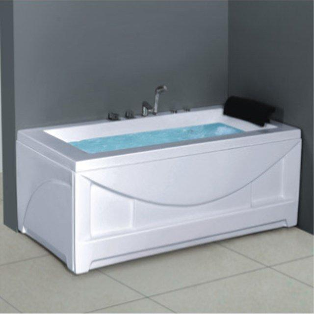 Wholesale rectangular big size acrylic whirlpool massage 1 person portable hot tub AD-705