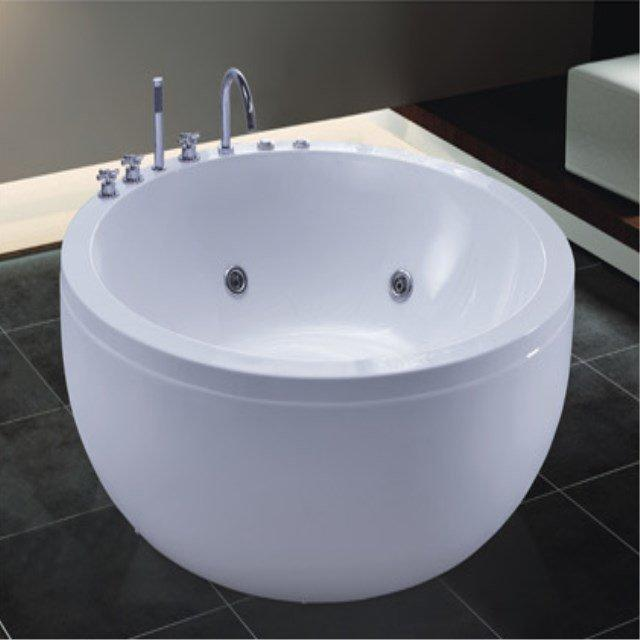 New bathroom design 1550mm round surfing whirlpool massage bathtub AD-712