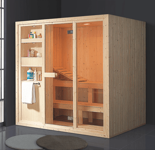 China dry steam room manufacturer supply hot sale diamond infrared wooden sauna room AD-963