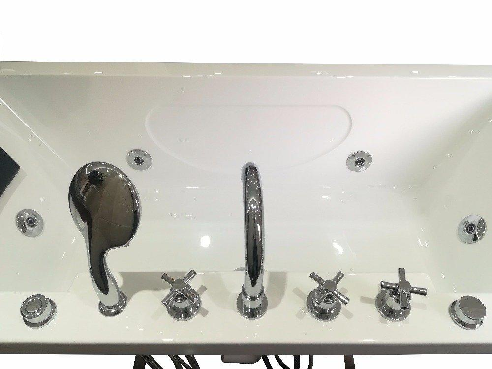Acrylic American Style Massage Integral Bathtub with Apron AD-C12