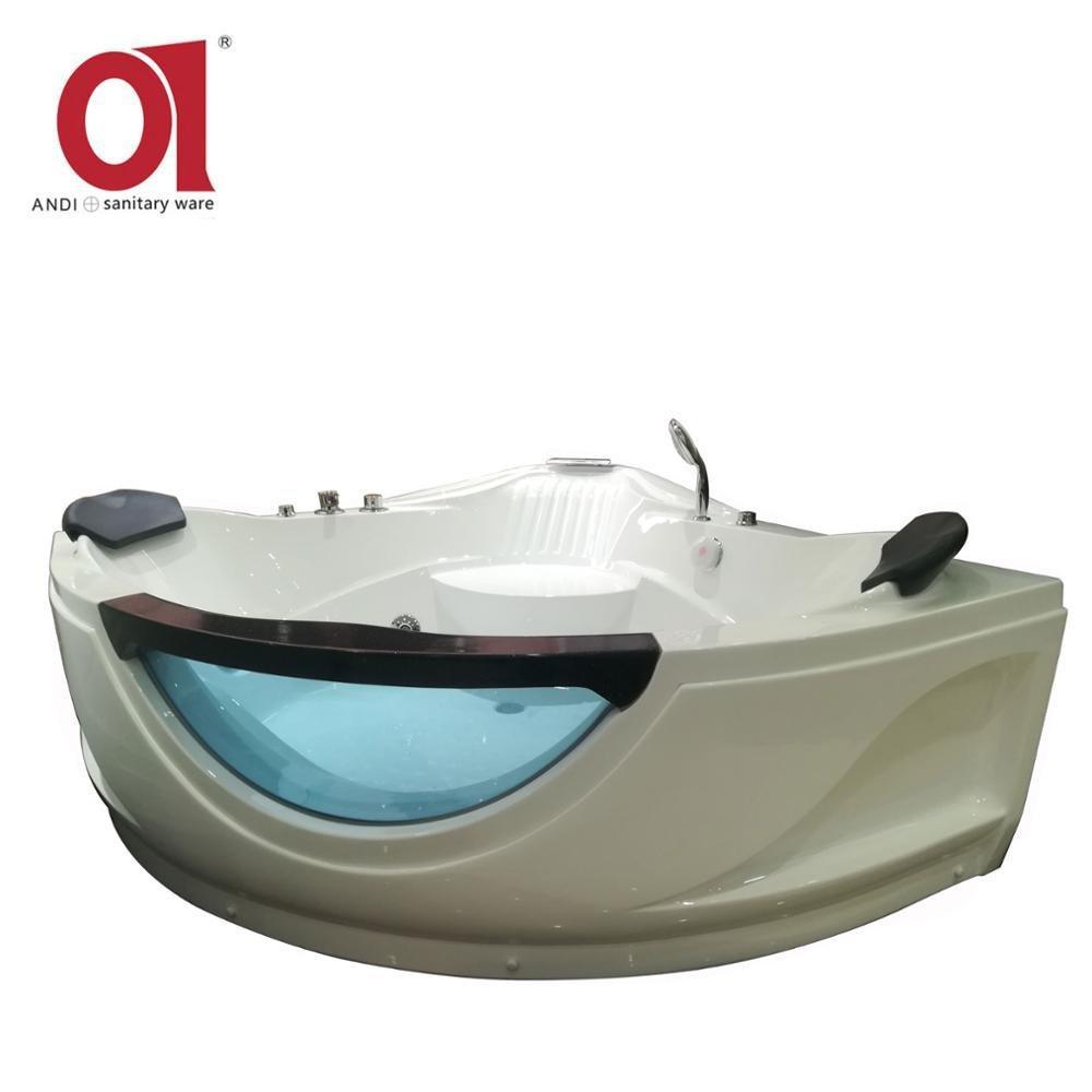 Foshan Corner Sex Glass Whirlpool Massage Bathtub1500*1500mm AD-C11