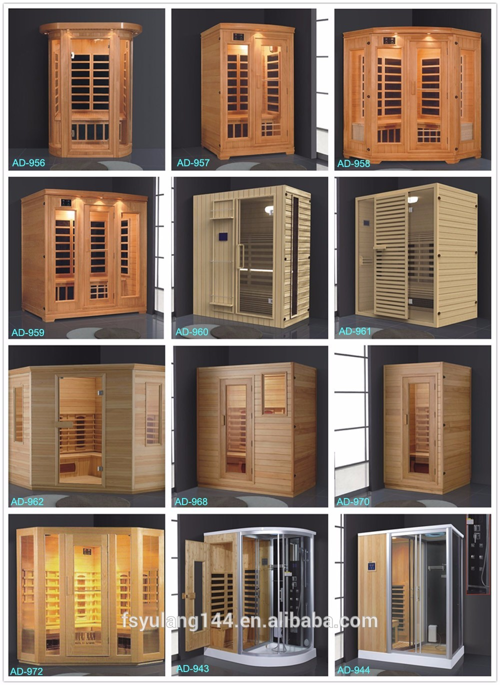 Hemlock Wood Mini Sauna Steam Combined Room