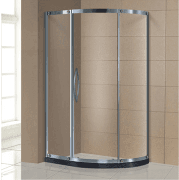 Made in china easy clean one sliding 6mm bathroom glass portable shower room AD-317