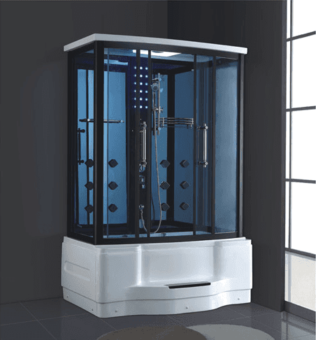 Perfect design acrylic bathtub and aluminium frame personal steam room with shower AD-930