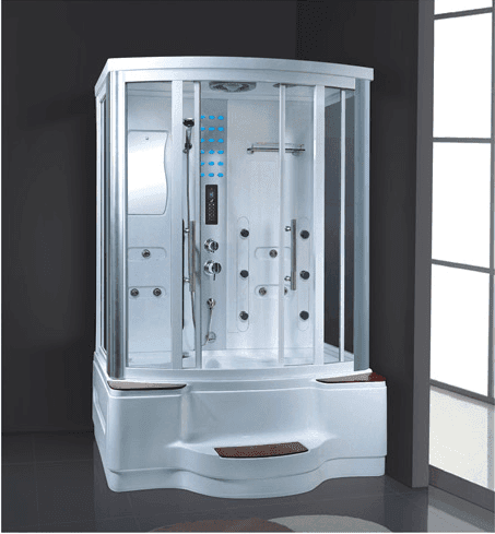 China suppliers wholesale 2 person acrylic home steam room kits with whirlpool bathtub AD-936
