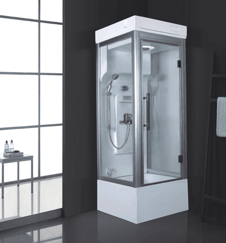 Small size 820x820mm square acrylic personal mini steam room with shower AD-924