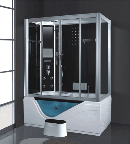 High quality made in china rectangular acrylic jet surf bathing steam room AD-908