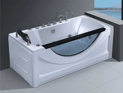 China factory supply indoor 1 person cheap whirlpool surfing massage bathtub with glass skirt AD-659