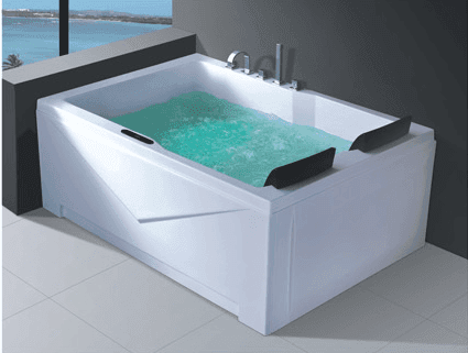 Luxury 2 person rectangular acrylic whirlpool used fiberglass bathtub AD-657