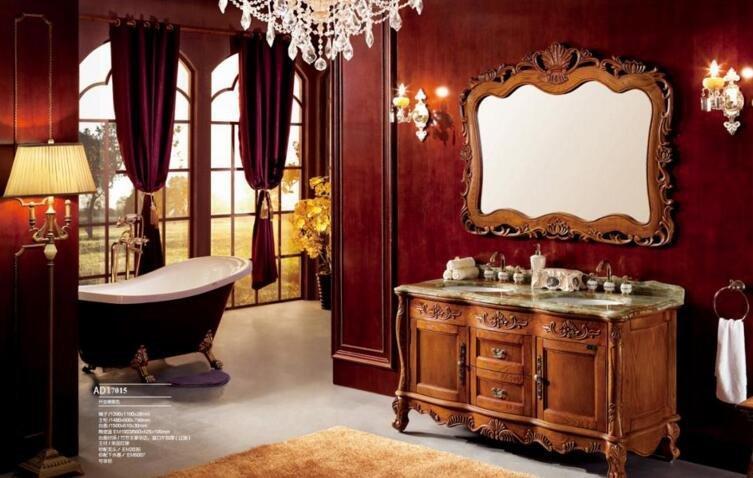 Antique Wooden furniture Amercian Red Oak Cabinet Bathroom cabinet Freestanding cabinet