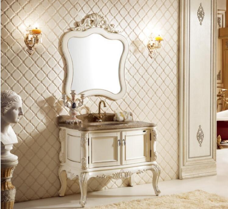 European cabinet Antique Design Bathroom Vanity Classic Hotel Bathroom Furniture