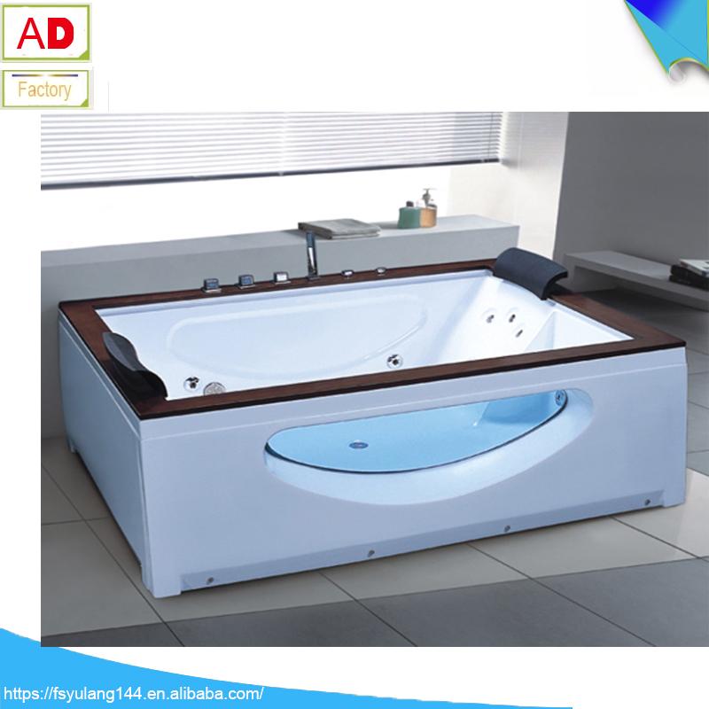 Cheap freestanding bathtub malaysia fico apollp massage bathtub gold acrylic bath AD-6632-8