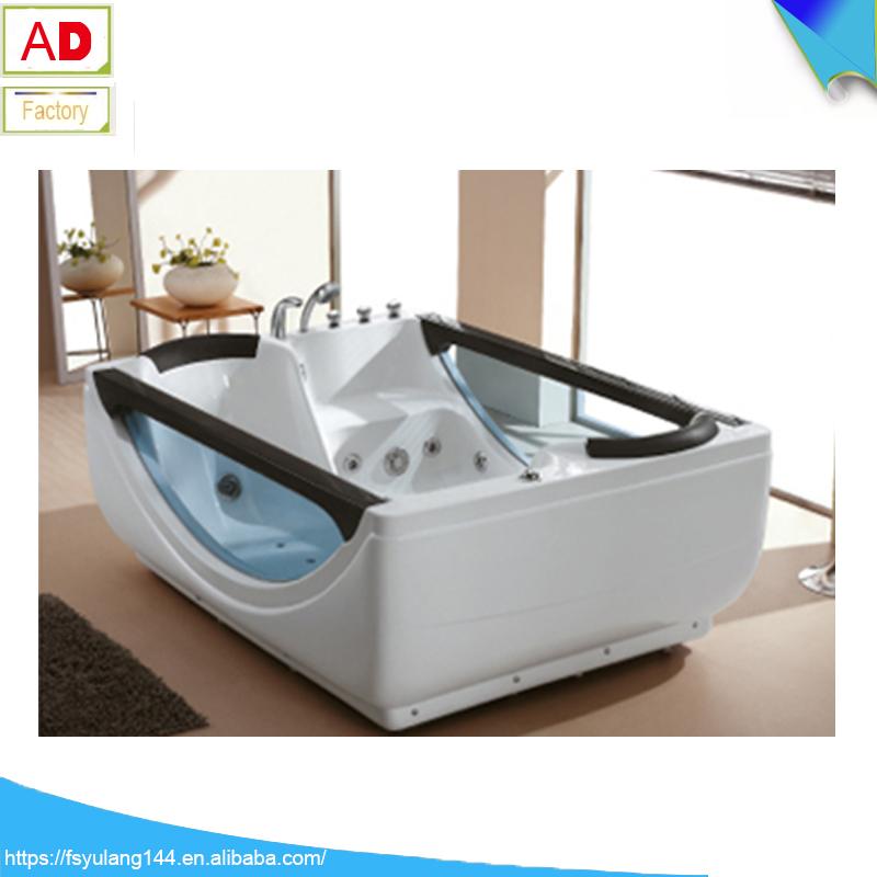 Cheap freestanding bathtub malaysia fico apollp massage bathtub gold acrylic bath AD-6632-10