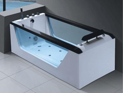 New Design 125kg 1.47cbm Single Rectangle Acrylic Massage Bathtub With Whirlpool And Air Bath AD-622