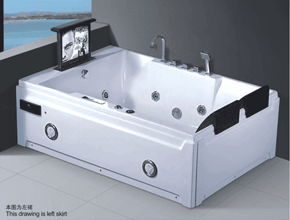 Massage Bathtub with Corner Drain AD-661