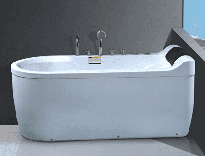 Corner Air Bubble Round Bathtub AD-667