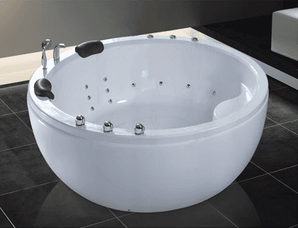 2 person round acrylic massage bathtub AD-638