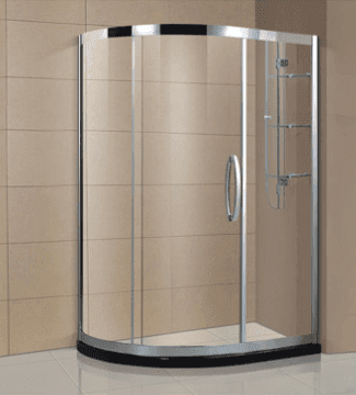 Luxury bathroom design stainless steel frame shower enclosure cubicle with glass layer shelf AD-316