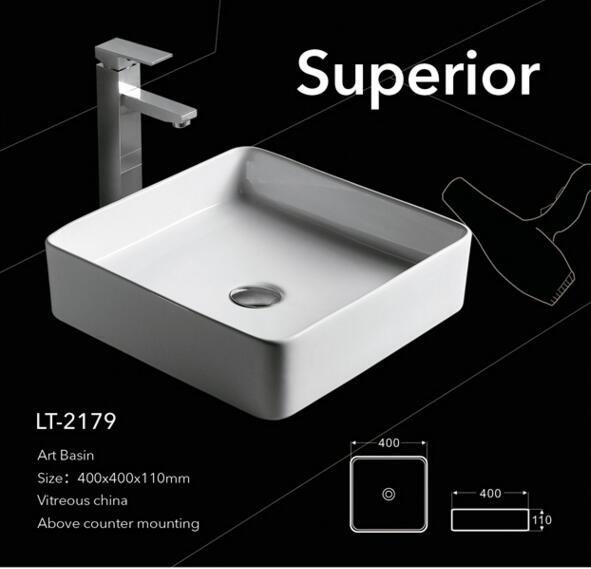 ANDI Bathroom Rectangular Shape Art Ceramic Porcelain Hand Wash Sink Basin Hand Wash Basin image2