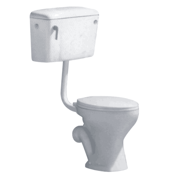 ANDI F-204 High quality Africa washdown ceramic two-piece toilet watermark cheap price toilet F-204 Ceramic Toilet Bowl image1