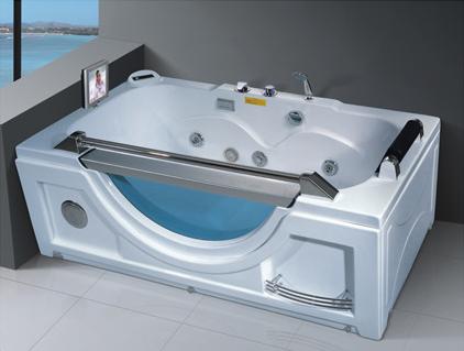 Luxurious Mini Whirlpool Bathtub Whirlpool Bathtub Hydromassage Bathtub with TV AD-615