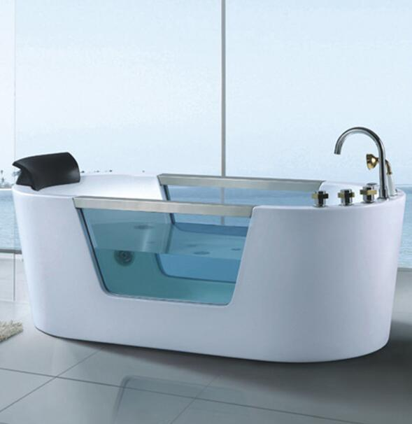 Massage Bathtub with Heater Air Bubble Hydralic Water Jet Nozzle Hot Tub AD-617