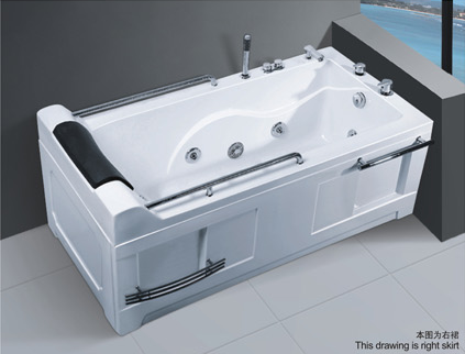 High -level 1700mm spa bathtub with massage hot tub with armrest hydromassage for poland AD-683