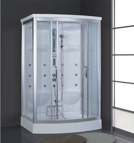 Foshan factory supply cheap white acrylic double wet sauna steam room prices with shower AD-938