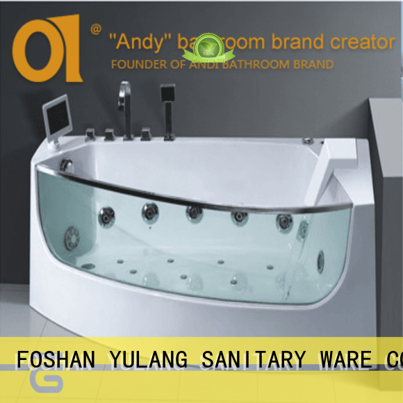 ANDI acrylic jacuzzi whirlpool bath factory price for shower