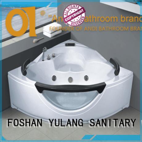 sturdytriangular bathtubsshower factory pricefor apartment