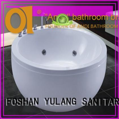 ANDI hot sell round jacuzzi bathtub factory price for home