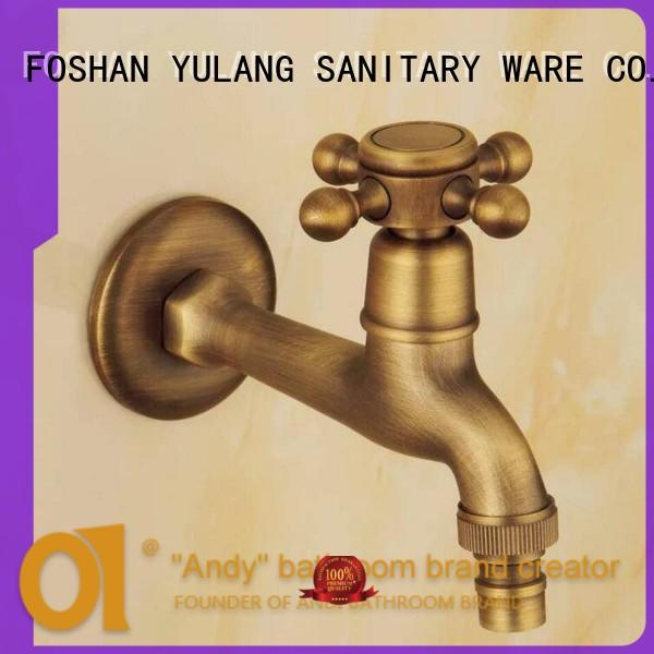 ANDI wall brass bathroom faucets manufacturer for shower